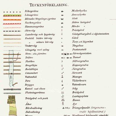 Teckenförkaring Häradskartan från 1902-03.