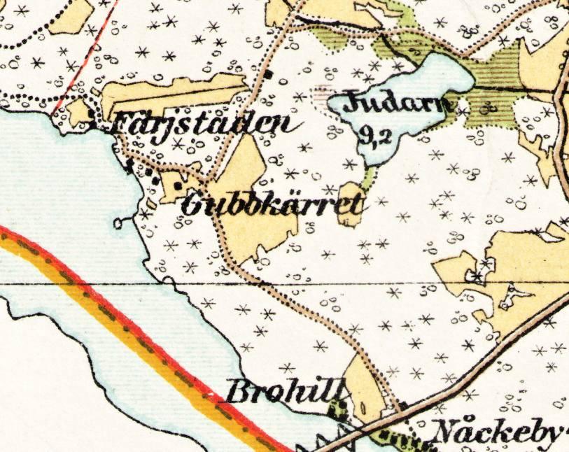 Utsnitt ur Häradskartan från 1902-03.